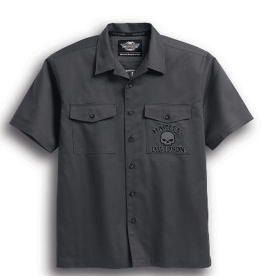 men's s/s skull garage shirt | short sleeve | official harley