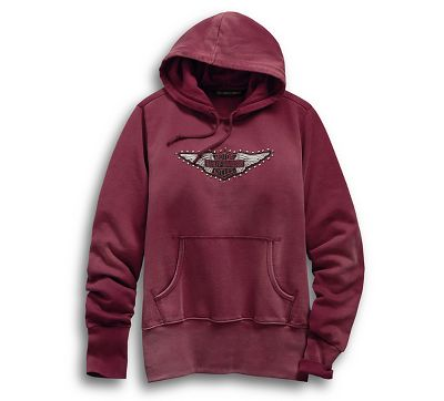 60ee37b91 Women's Studded Wing Pullover Hoodie - 9912219VW | Harley-Davidson USA