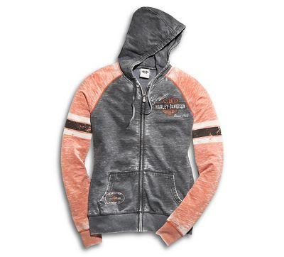 women's genuine oil can burnout hoodie | hoodies | official harley