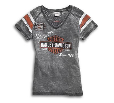 54a1870e3dc4 Women's Genuine Oil Can Burnout Tee - 9919614VW | Harley-Davidson USA