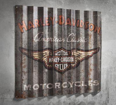 corrugated metal sign | best sellers | official harley-davidson