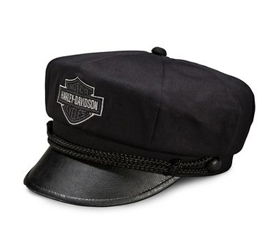 Men s Bar   Shield Logo Biker Cap - 9940515VM  495ad17302b