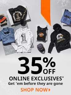 35% off online exclusives
