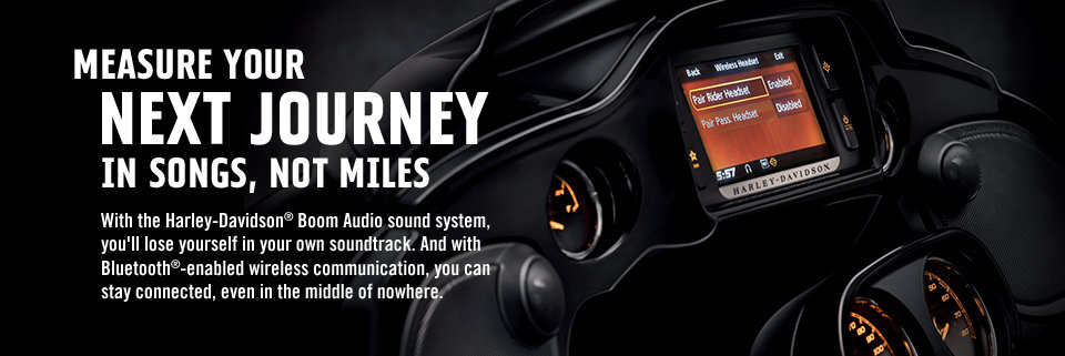 Harley-Davidson Audio and Electronics with Boom Audio Sound System