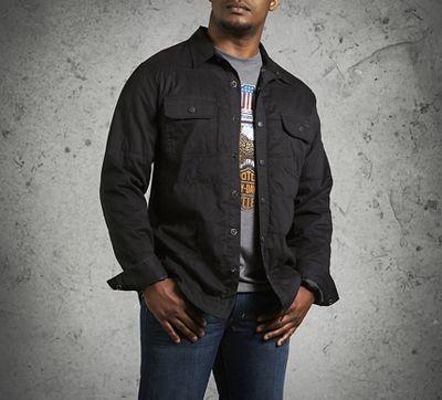 Men's Quilted Shirt Jacket | Black Label | Official Harley ...