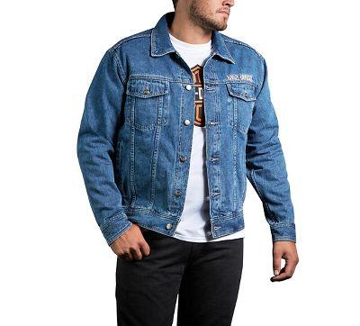 843090c3148 Men s Bar   Shield Logo Denim Jacket - 9904008VM