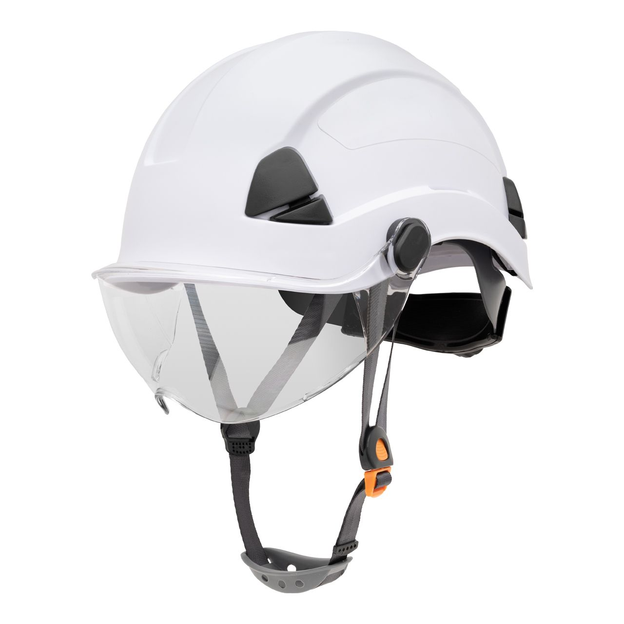 FSH10001 Honeywell Fibre Metal Safety Helmet Product Shot NA Non Vented Side