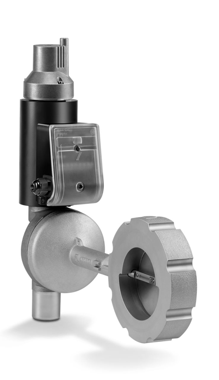 Solenoid-operated butterfly valves for air