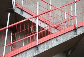 Combisafe Steel Mesh Barrier Stair Image