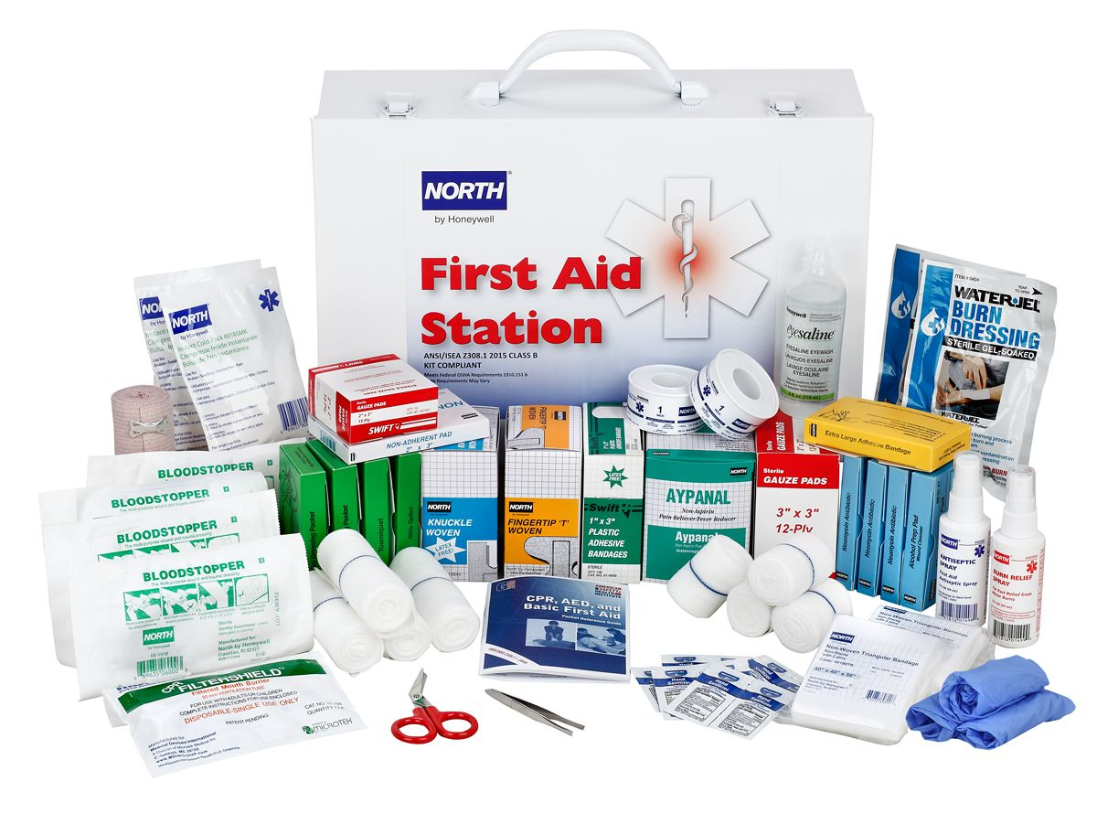 FAK100CAB-CLSB First Aid Kit Open
