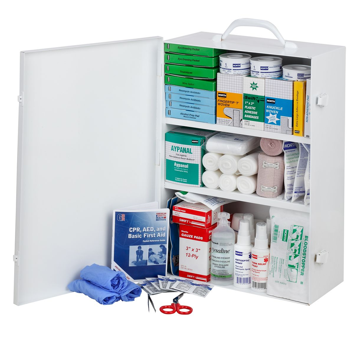 FAK150CAB-CLSB First Aid Kit Open
