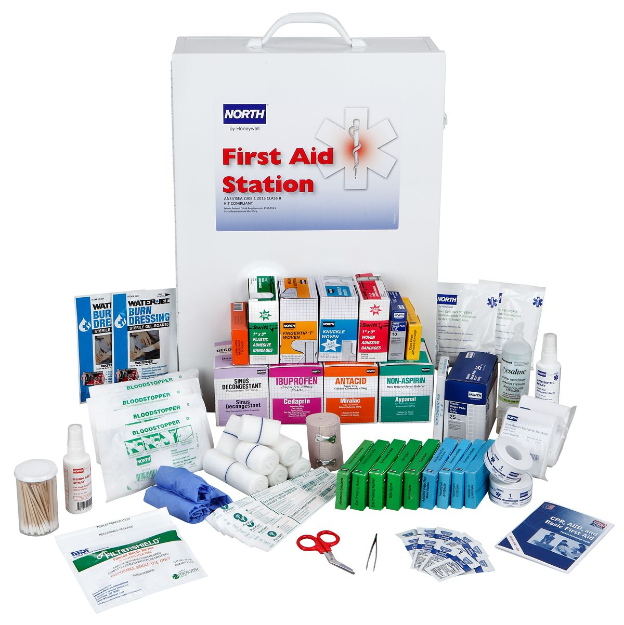 FAK4SHLF-CLSB 4 Shelf First Aid Kit Open