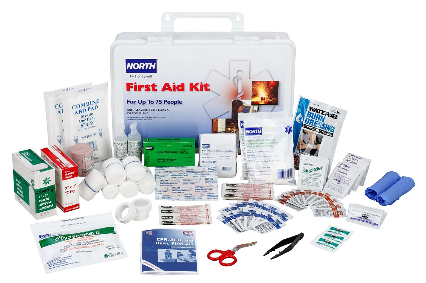 FAK75PL-CLSA First Aid Kit Open