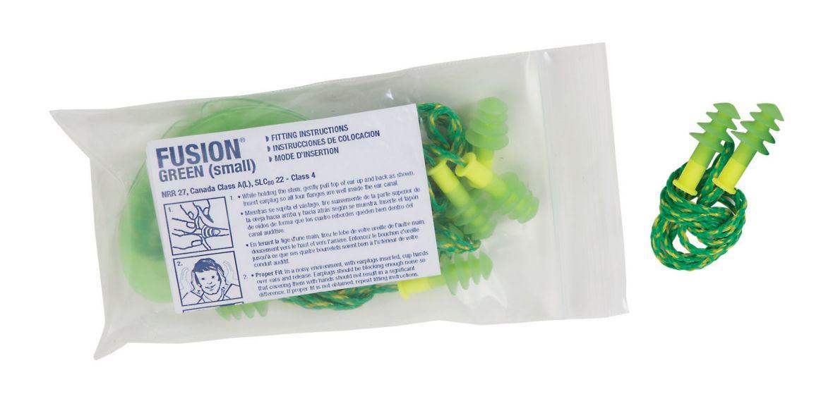 Fusion corded small earplug pack