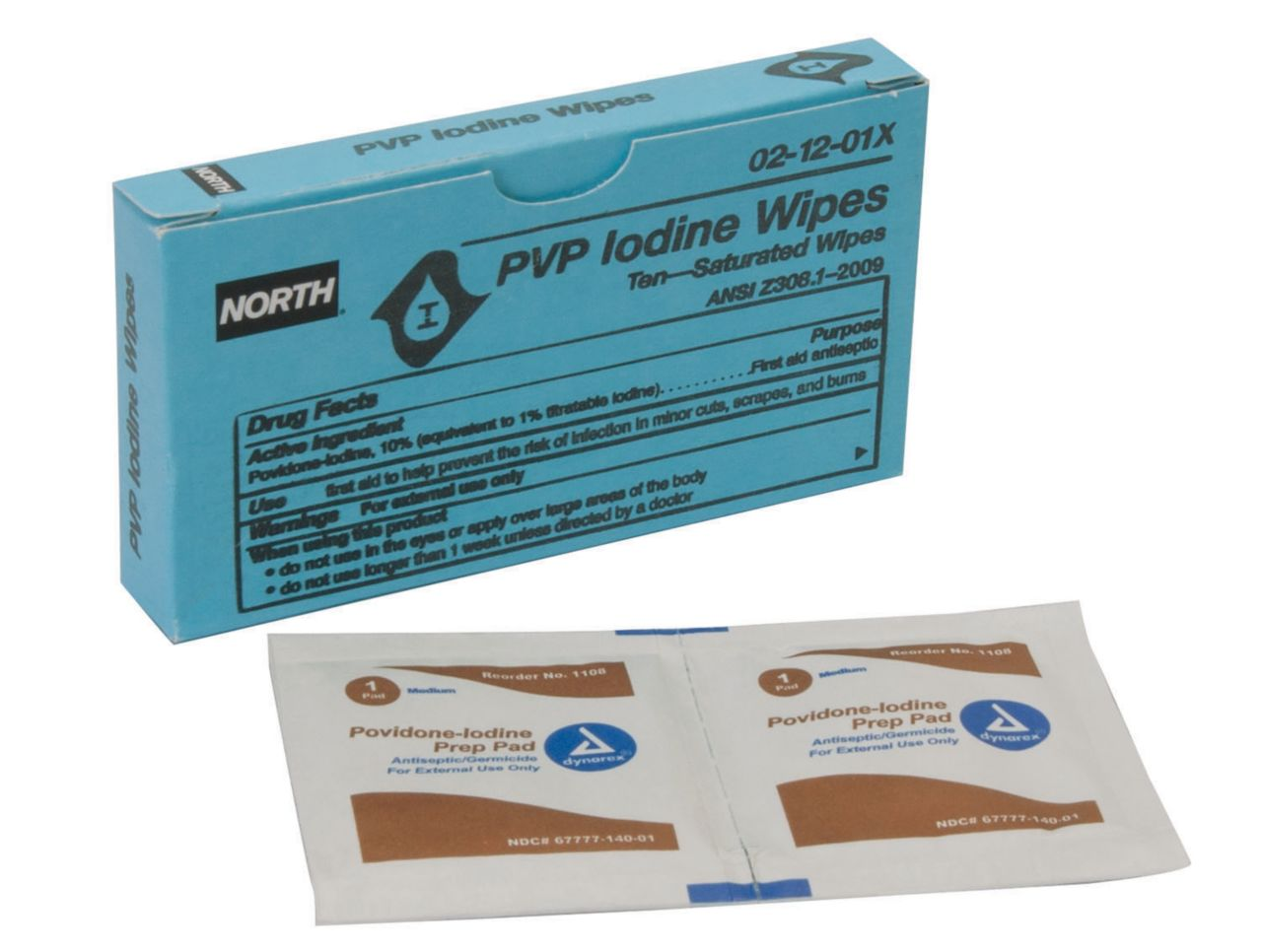 North PVP iodine wipes 021201X