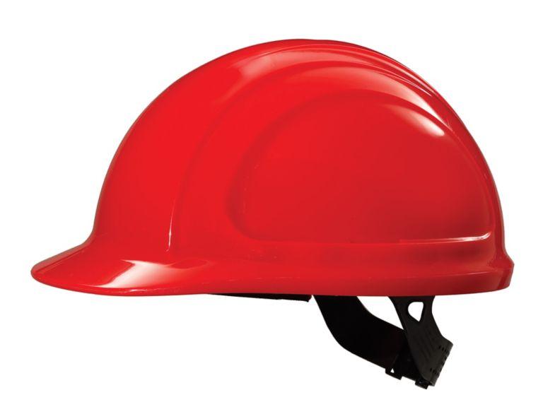North Zone Hard Hat Hi Viz Red Quick Fit