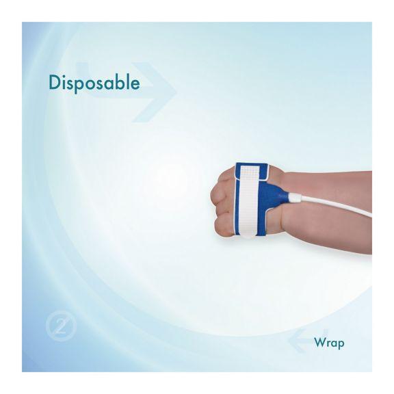 Application image Disposable Sensor Wrap Adult/Neonatal