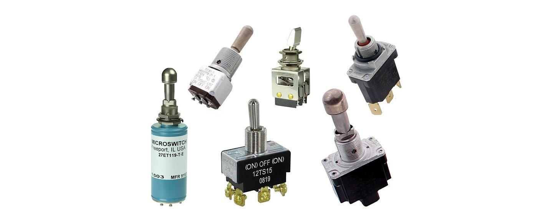 Interruptores de palanca y balancin