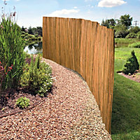Slatted Bamboo Pool Screen Privacy