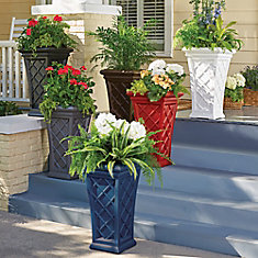 Outdoor planters improvements patio planters workwithnaturefo