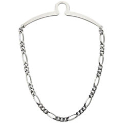 Rhodium-Plated Tie Chain