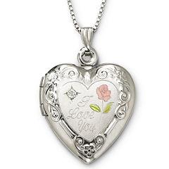 I Love You Sterling Silver Heart Locket