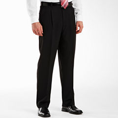 Adolfo® Pleated Black Striped Suit Pants