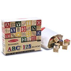 Melissa & Doug® Wooden ABC/123 Blocks (UC)