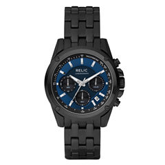 Relic® Mens Black & Blue Chronograph Watch ZR66035