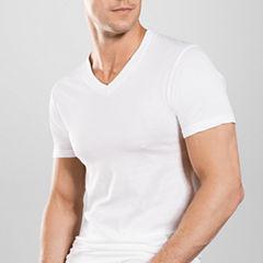 Stafford® 4-pk. Blended Cotton V-Neck T-Shirts
