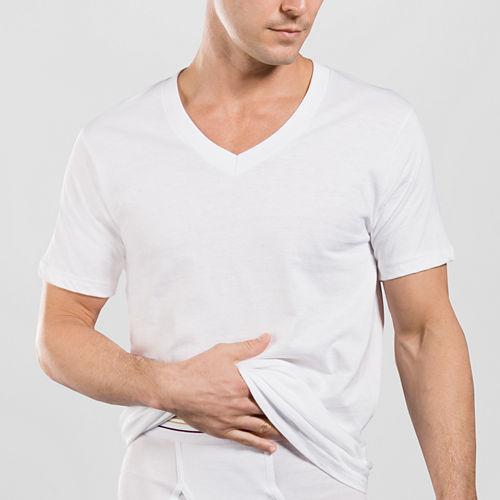 Stafford® 4-pk. Cotton V-Neck T-Shirts