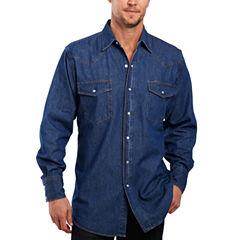 Ely Cattleman® Denim Washed Snap Shirt–Big & Tall