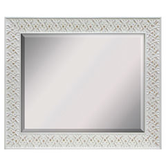 White Wash Beveled Wall Mirror
