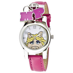Muppets Miss Piggy Pink Strap Charm Watch