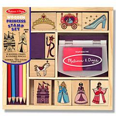 Melissa & Doug® Princess Wood Ink Stamp Set