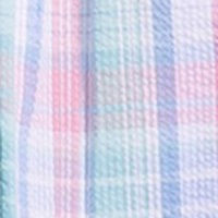 Pink Blue Plaid