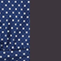 Navy Dot Grey