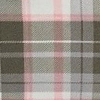 Plaid Ivory Peach