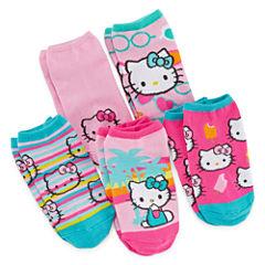 Hello Kitty® 5-pk. No-Show Socks - Girls