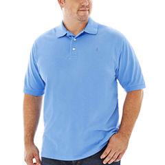 IZOD® Short-Sleeve Heritage Piqué Polo–Big & Tall