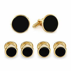 Formal Onyx Set of 4 Shirt Studs and Cuff Links