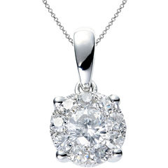 Brilliant Dream™  1/3 CT. T.W. Round Diamond Pendant Necklace