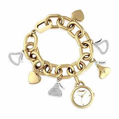 Hershey Kisses Womens Gold Tone Bracelet Watch-Ks008gd