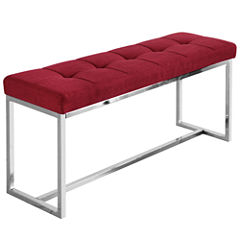 Vibes Faux Leather Tufted Bench