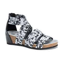Muk Luks Elle Womens Wedge Sandals