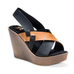 Muk Luks Beth Womens Wedge Sandals