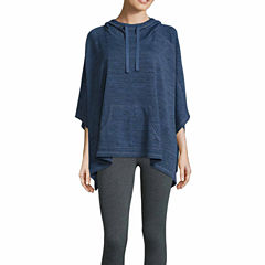 Xersion Sleeveless Hooded Neck Poncho-Talls