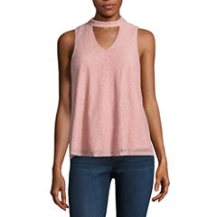 Trixxi Lace Tank Top-Juniors