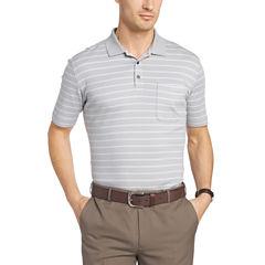 Van Heusen Short Sleeve Stripe Interlock Polo Shirt