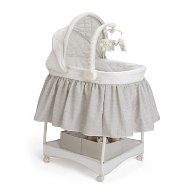 Delta Childrenu0027s Products™ Deluxe Gliding Bassinet   Silver Lining